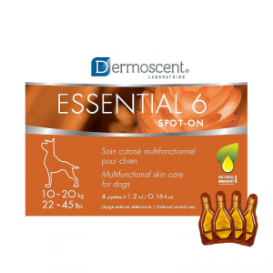 Dermoscent Essential Spot on pilieni ādai suņiem 10 - 20kg 1.2ml x4