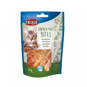 Trixie Chicken Filet Bites gardums kaķiem Vistas fileja 50g