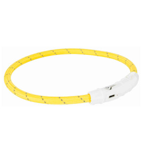 Trixie Flash Ring USB suņu kaklasiksna ar gaismu M/L 45cm Yellow